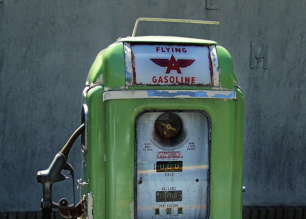 Quot Vintage Flying A Gasoline Pump Quot By Javidano Redbubble