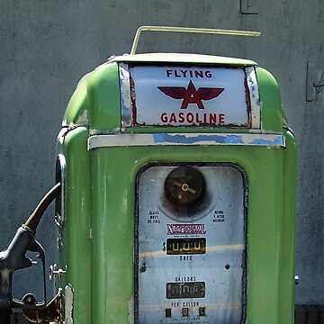 Vintage Flying A Gasoline Pump by javidano