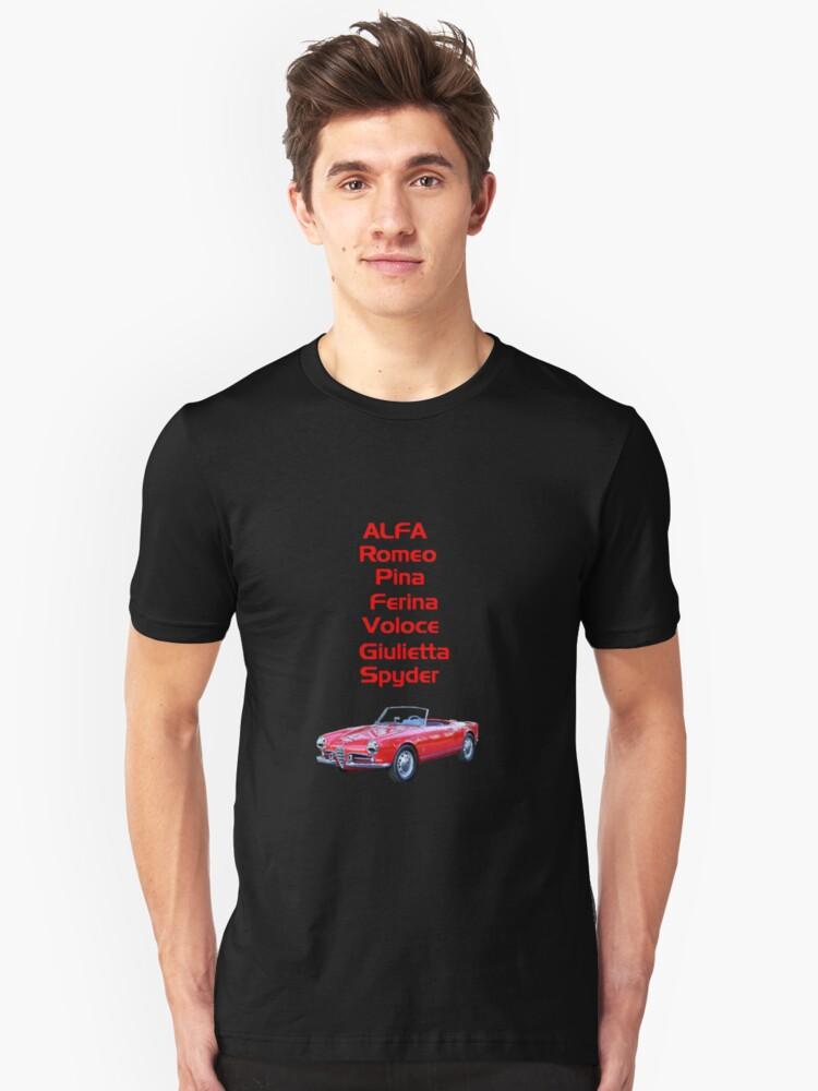 TSHIRT Alfa Romeo Pina Ferina Veloce Giulietta Spyder by Dominic Melfi