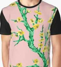 yellow flowers, pink background Graphic T-Shirt
