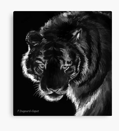 Tigre B&N, featured in Back in Black  Canvas Print