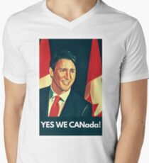 Yes We Canada!  Men's V-Neck T-Shirt