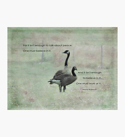 Live for peace-inspiration Photographic Print