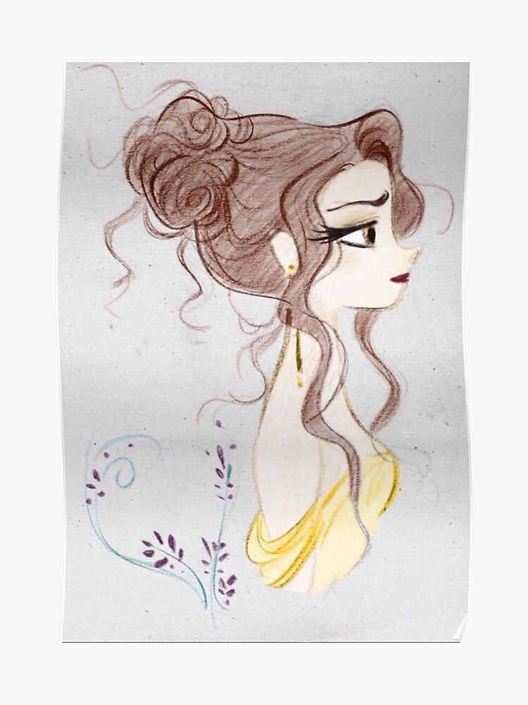 Schönheit Und Das Biest Die Schöne Magie Zeichnen Poster Von