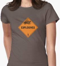 HAZMAT Class 1: Explosives Womens Fitted T-Shirt