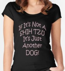 Shih Tuz Dog Women's Fitted Scoop T-Shirt