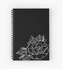 New school rose in white Spiral Notebook