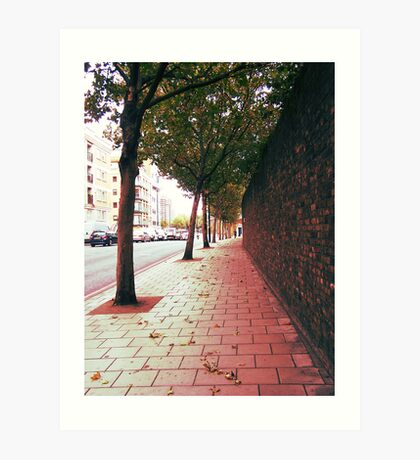 Autumn Alone Art Print