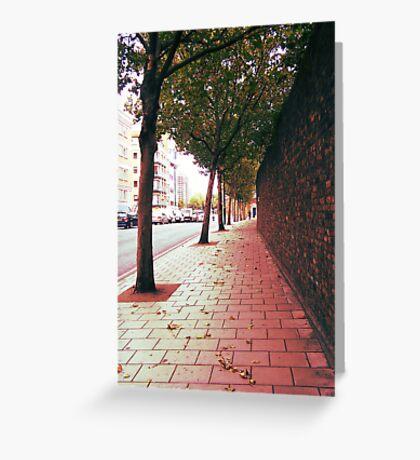 Autumn Alone Greeting Card