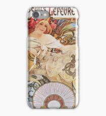 Alphonse Mucha - Biscuits Lefevre Utile iPhone Case/Skin