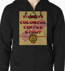 Starbuck's Colonial Coffee Stout Zipped Hoodie