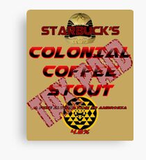 Starbuck's Colonial Coffee Stout Canvas Print