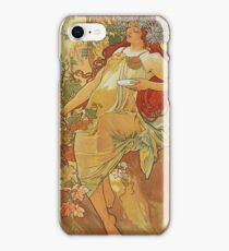 Alphonse Mucha - Autumn 1896 iPhone Case/Skin