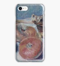 Alfred Sisley - Still Life With Onions iPhone Case/Skin