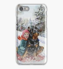 Alexander Day - Good Dog Carl Goes Sledding iPhone Case/Skin