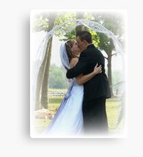 the first kiss Canvas Print
