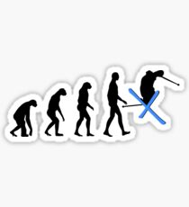 Evolution Ski Sticker
