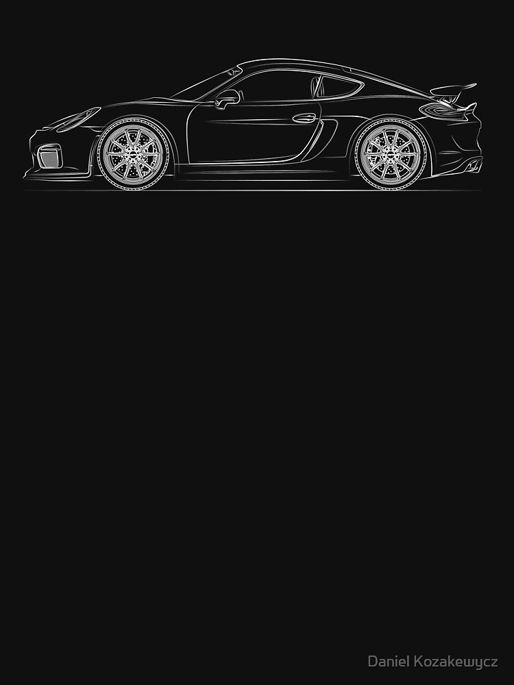 Cayman GT4 Linie Art von BlackArtGraphx