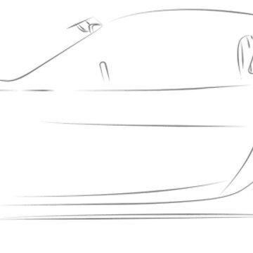 Cayman GT4 Line Art by BlackArtGraphx