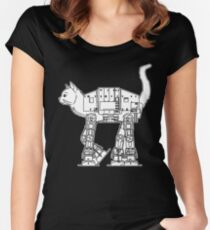 Star Wars - Cat-Cat Imperal Walker Women's Fitted Scoop T-Shirt