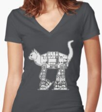 Star Wars - Cat-Cat Imperal Walker Women's Fitted V-Neck T-Shirt