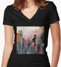Magical City Women's Fitted V-Neck T-Shirt