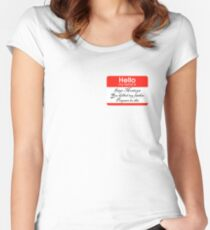 Hello. My name is Inigo Montoya Women's Fitted Scoop T-Shirt