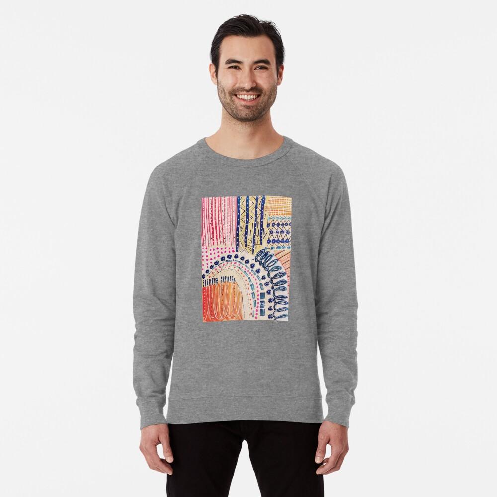 Shakti abstraktes handgemaltes Design Leichter Pullover
