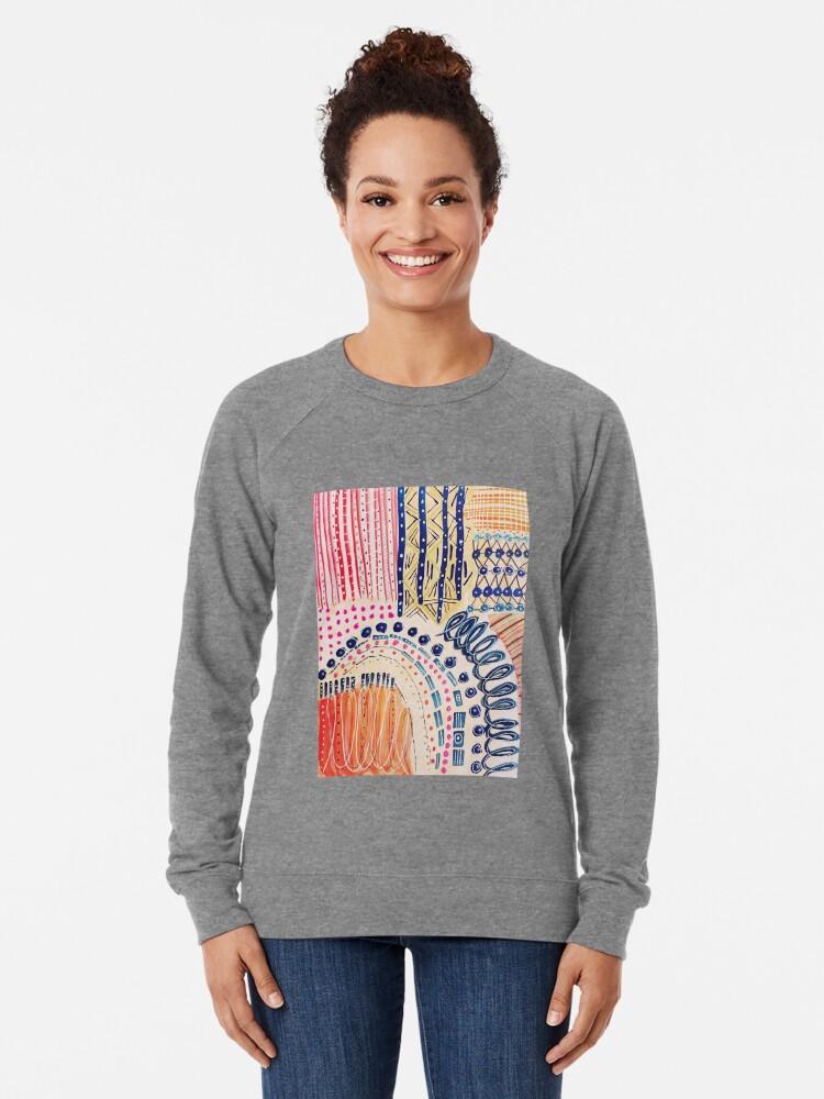 Alternative Ansicht von Shakti abstraktes handgemaltes Design Leichter Pullover