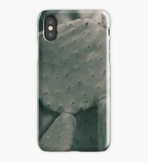 Prickly Pear leaf, Macro, high quality Photo, still life, Cactus, fine art, photography, glicée, print, nature, lover, photo 1 of 2 iPhone Case/Skin