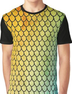 Mermaid Scales - colorful Graphic T-Shirt