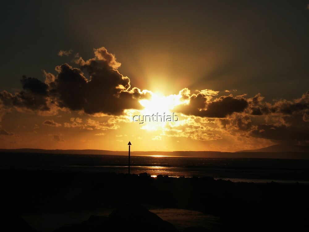 morecambe golden sunset by cynthiab