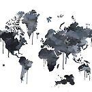 Weltkarte in Feder und Tinte von UrsusFineArt
