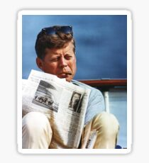 JFK Smoking Sticker
