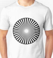 Blanco y Negro hipnotizador  Unisex T-Shirt