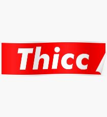 Thicc-Box-Logo Poster