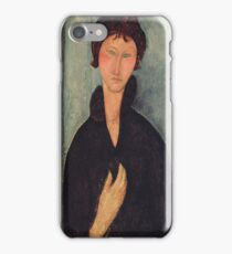 Amedeo Modigliani - Woman With Blue Eyes iPhone Case/Skin