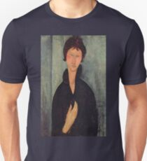 Amedeo Modigliani - Woman With Blue Eyes Unisex T-Shirt
