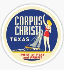 Corpus Christi Texas Vintage Travel Decal Sticker