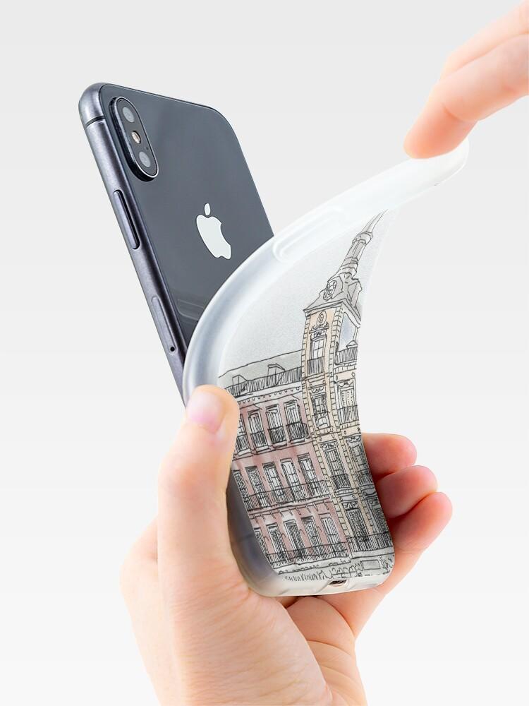 Alternative Ansicht von Plaza Mayor Madrid Aquarell iPhone-Hülle & Cover