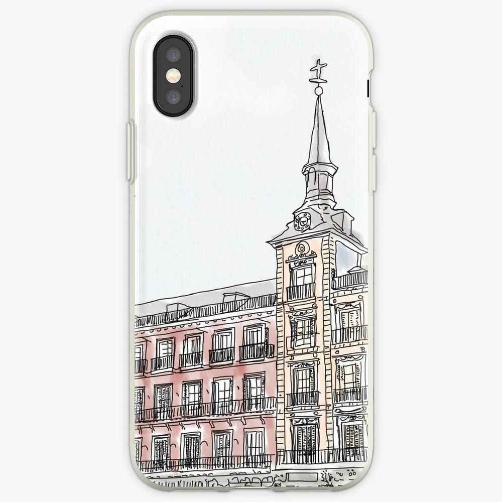 Plaza Mayor Madrid Aquarell iPhone-Hülle & Cover