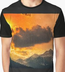 Sunset over Italian Alps Graphic T-Shirt