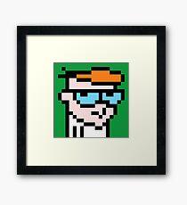Dexters 8bit lab Framed Print