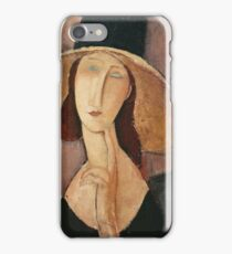 Amedeo Modigliani - Portrait Of Jeanne Hebuterne In A Large Hat iPhone Case/Skin