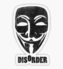 Disorder Guy Fawkes  Sticker