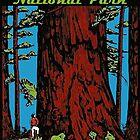 «Redwood National Park California Vintage Travel Decal» de hilda74