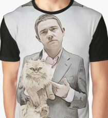 Martin and Cat Graphic T-Shirt