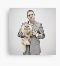 Martin and Cat Canvas Print