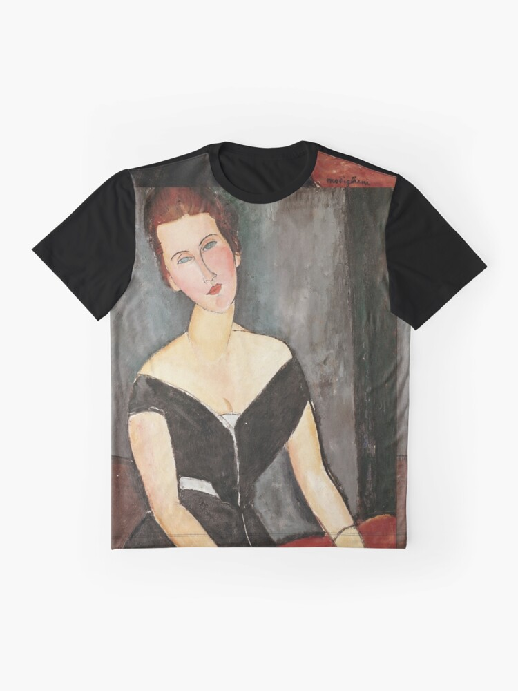 Alternative Ansicht von Amedeo Modigliani - Madame G. Van Muyden Grafik T-Shirt