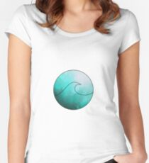 Watercolor Wave 2 Women's Fitted Scoop T-Shirt